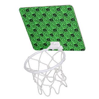 貝および花の緑 ミニバスケットボールゴール