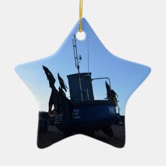 貝のボートの公正貿易 セラミックオーナメント
