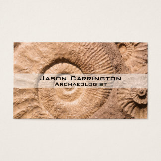 貝の化石 名刺