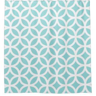 貝の水幾何学的なパターンシャワー・カーテン シャワーカーテン