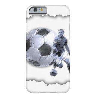 貝のIphoneの割れた場合上のサッカーの選手 Barely There iPhone 6 ケース