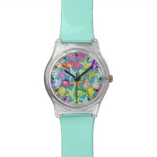 貝殻および海星 腕時計