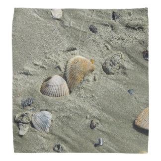 貝殻および砂 バンダナ