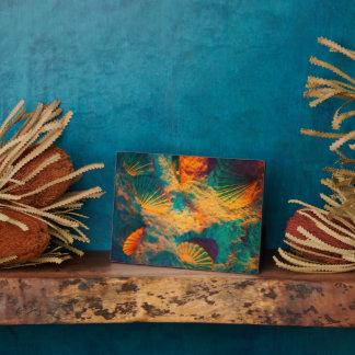 貝殻および砂 フォトプラーク