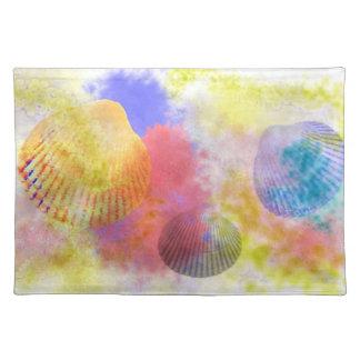 貝殻と飾ること ランチョンマット