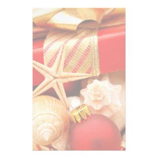 貝殻のクリスマスの文房具 便箋