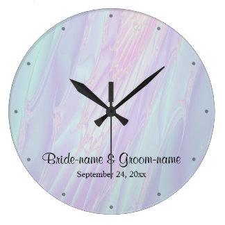 貝殻のスタイルパターン。 結婚 ラージ壁時計