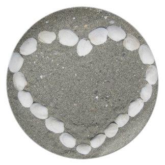 貝殻のハート プレート