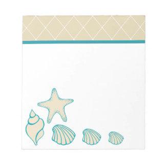 貝殻のビーチのメモ帳 ノートパッド