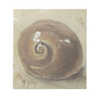 貝殻のビーチのMoonshellのかたつむりの貝 ノートパッド