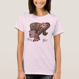 貝殻のポニーテール Tシャツ