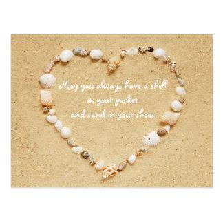 貝殻の恵みの郵便はがき ポストカード