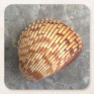 貝殻の飲み物用コースター スクエアペーパーコースター