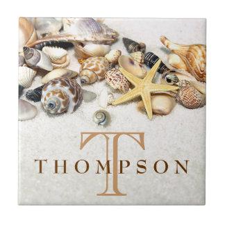 貝殻は名前入りタイルを張ります タイル