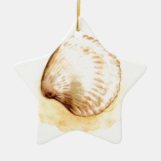 貝殻は黄色いseaschelを設計します セラミックオーナメント