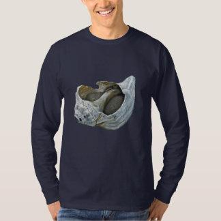 貝殻-選びますあなたの背景色をカスタマイズ Tシャツ