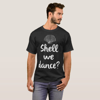 貝私達はビーチの休暇の貝殻のTシャツを踊ります Tシャツ