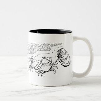 貝 ツートーンマグカップ