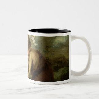貝、c.1670を持つ男の子 ツートーンマグカップ