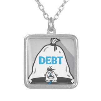 負債圧力 シルバープレートネックレス