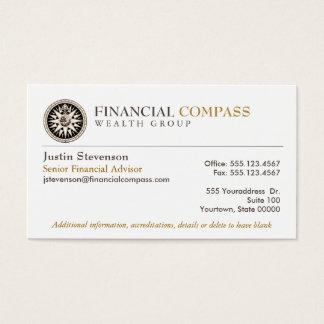 財務顧問の分析者財政のコンパス 名刺