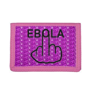 財布のEbolaフリップ ナイロン三つ折りウォレット