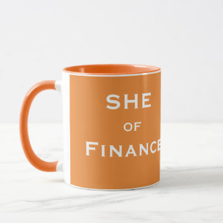 財政のおもしろいな女性CFO会計士の名前の彼女 マグカップ