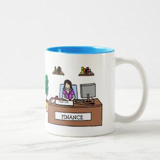 財政のプロフェッショナル-カスタムな漫画のマグ ツートーンマグカップ