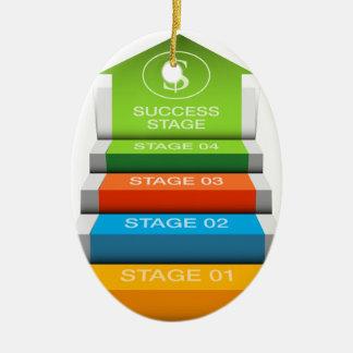財政の成長は階段ステップ図表を上演します セラミックオーナメント