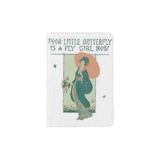 貧しく小さい蝶は今はえの女の子です パスポートカバー