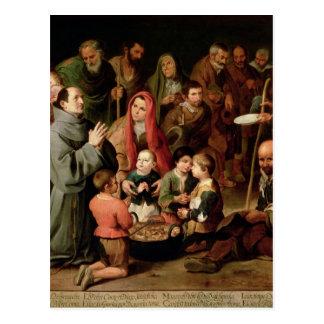 貧乏人に食糧を与えているAlcalaのSt.ディエゴ ポストカード