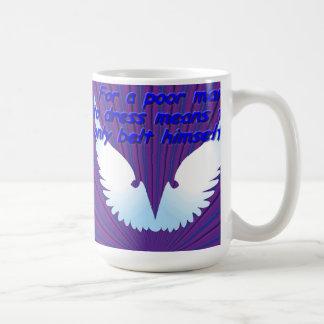 貧乏人のため、himselだけにベルトを付ける平均に服を着せるため コーヒーマグカップ