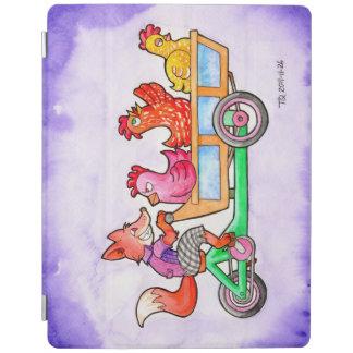 貨物バイクのキツネそして鶏 iPadスマートカバー