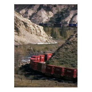 貨物列車の鉄道のロードアイランドの写真撮影 ポストカード