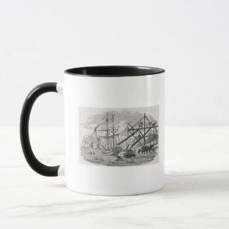 貨物船のローディングの石炭 マグカップ