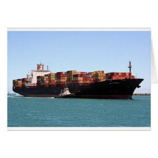 貨物船1の港アデレード、南オーストラリア カード