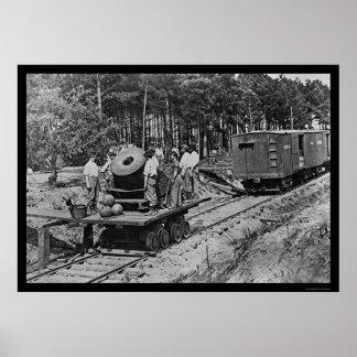 貨車1864年の大砲を持つ兵士 ポスター
