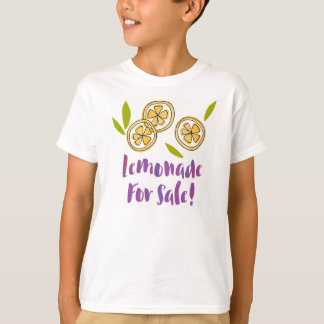 """""""販売のためのレモネード""""のレモネード立場の子供のTS06 Tシャツ"""