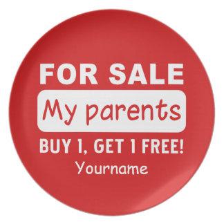 販売のカスタムなメラミンプレートのための親 プレート