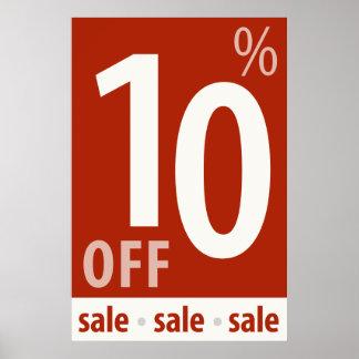 販売の印-小売り小売販売ポスターを離れて強力な10% ポスター