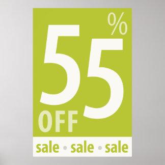販売の印-小売り小売販売ポスターを離れて強力な55% ポスター