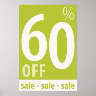 販売の印-小売り小売販売ポスターを離れて強力な60% ポスター