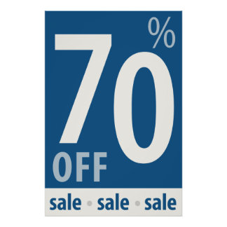 販売の印-小売り小売販売ポスターを離れて強力な70% ポスター