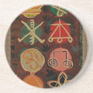 販売のKarunaの霊気の治療の記号のギフト コースター