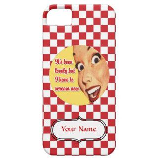 販売-カスタムな叫びの幸せな主婦のiPhone 5の場合 iPhone SE/5/5s ケース