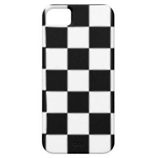 販売-巨大な白黒の点検のレトロのiPhone 5の場合 iPhone SE/5/5s ケース