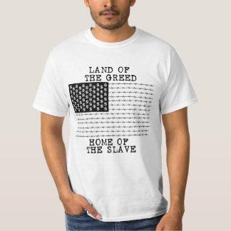 貪欲の土地、奴隷の家-パンクのrawk tシャツ