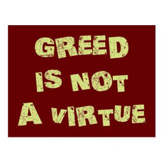 貪欲は美徳ではないです ポストカード
