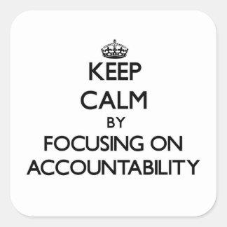 責任能力に焦点を合わせることによって平静を保って下さい スクエアシール