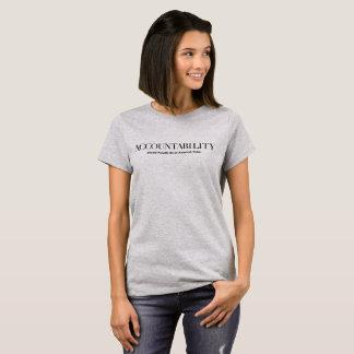 責任能力は得意気にアメリカの価値べきです Tシャツ